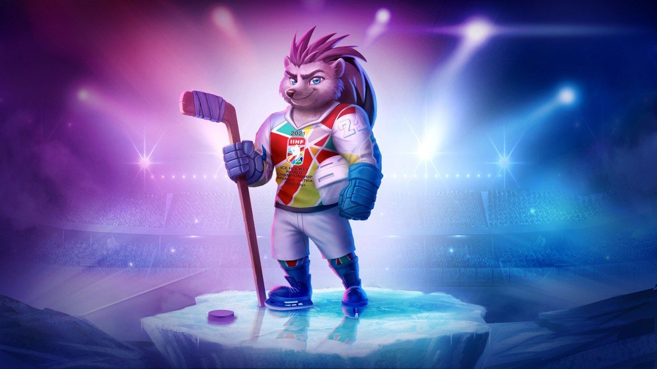 Spiky the Hedgehog unveiled as mascot of 2021 IIHF World Championship