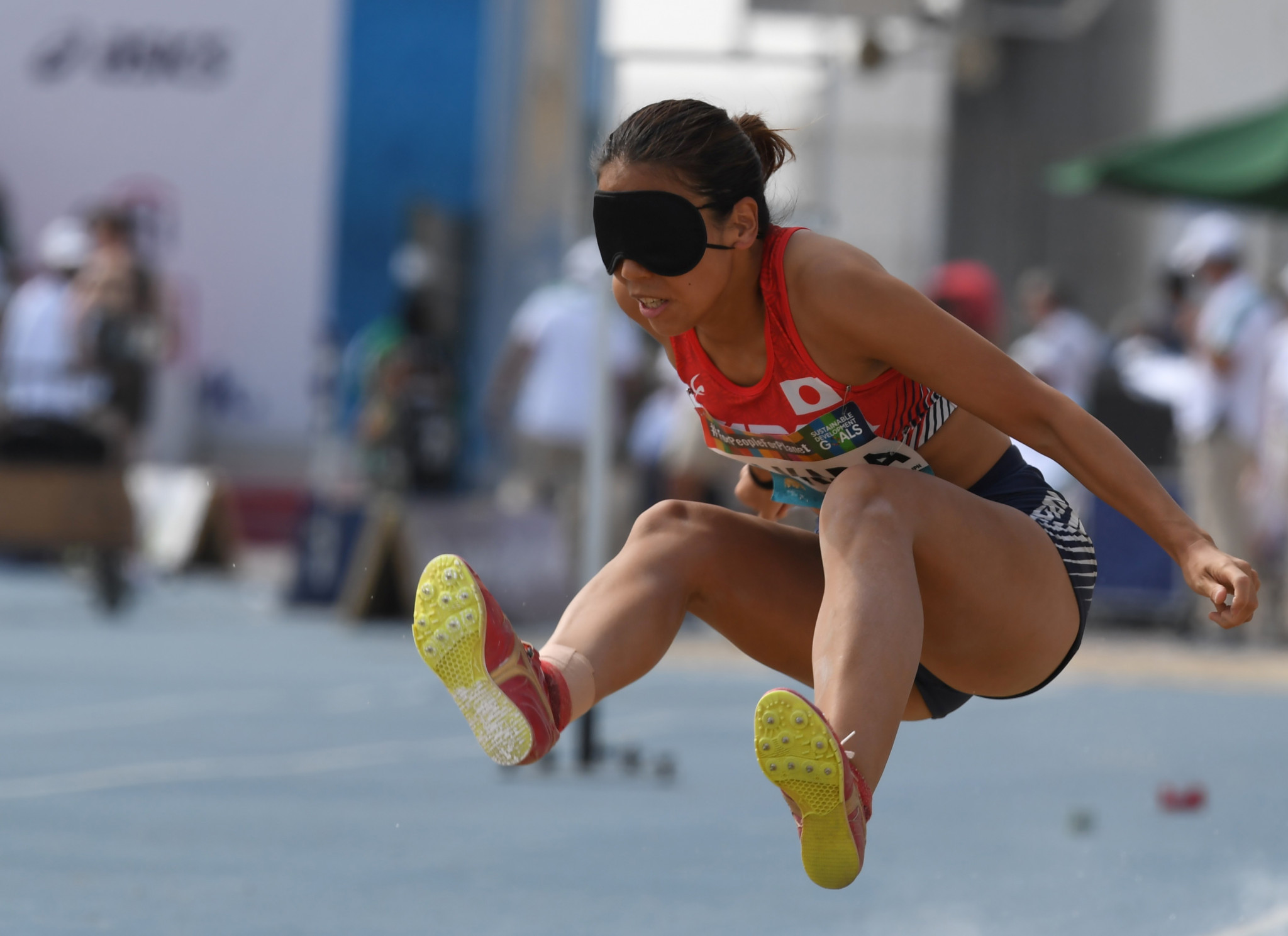 Japanese long jumper Chiaki Takada attended the event ©Getty Images