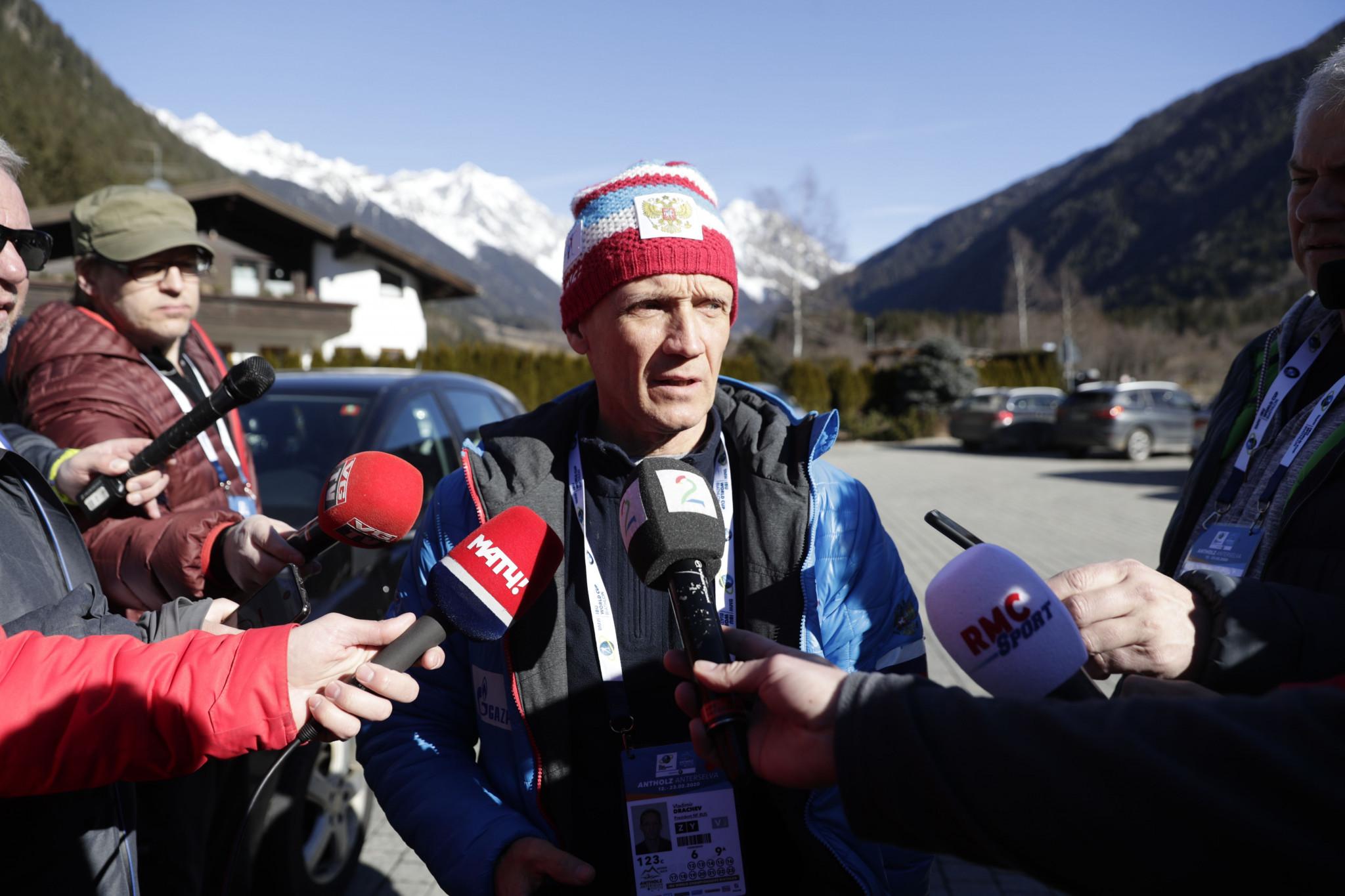 Russian Biathlon Union President Vladimir Drachev has claimed Alexander Loginov has been targeted ©Getty Images