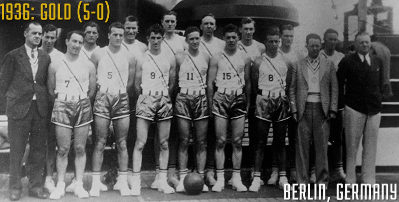 The United States beat Canada 19-8 in the final of the Olympic basketball tournament at Berlin 1936 to become the sport's first gold medallists ©USA Basketball