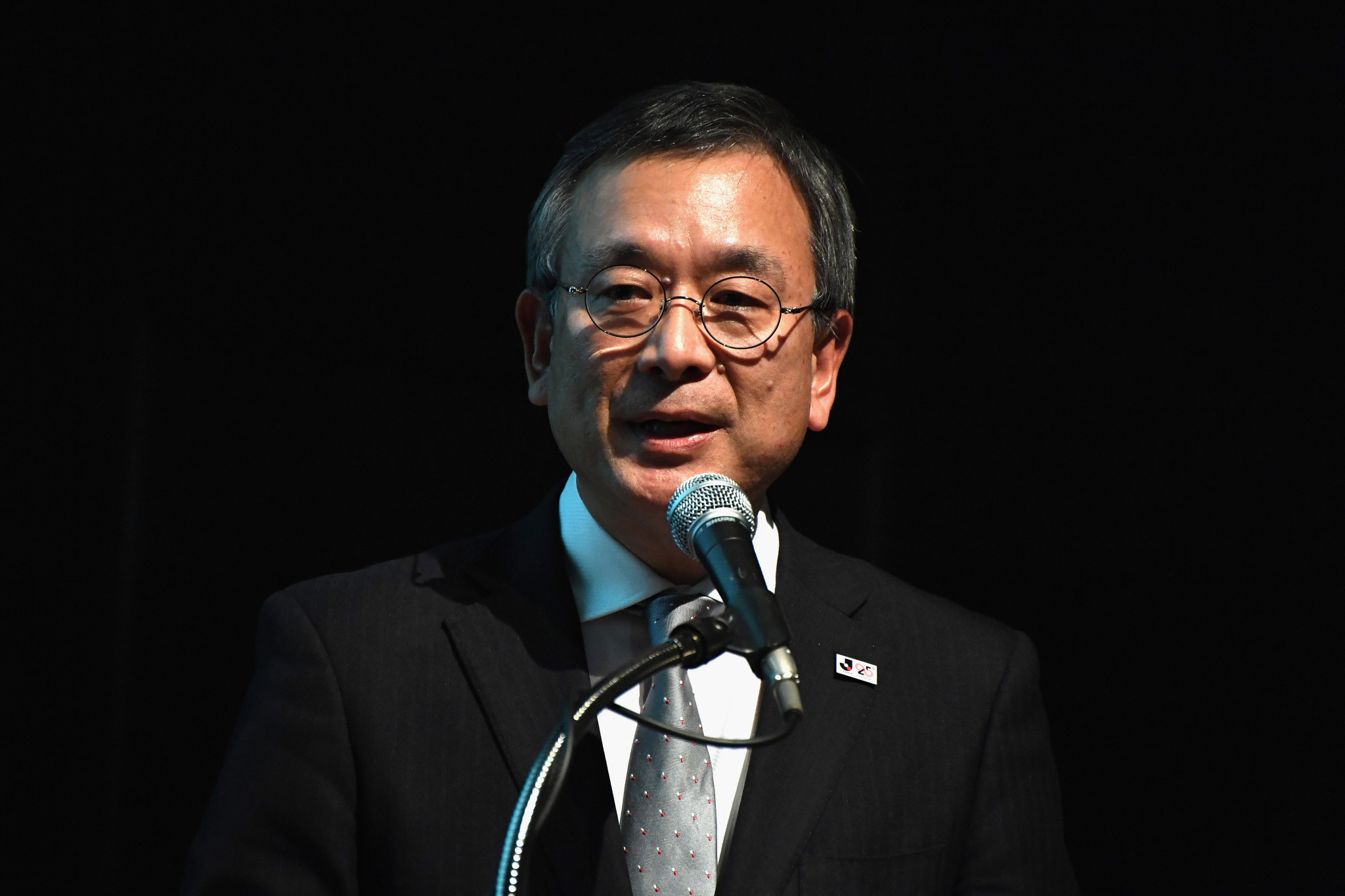 J-League chairman Mitsuru Murai apologised to fans but said the postponement was necessary ©Getty Images