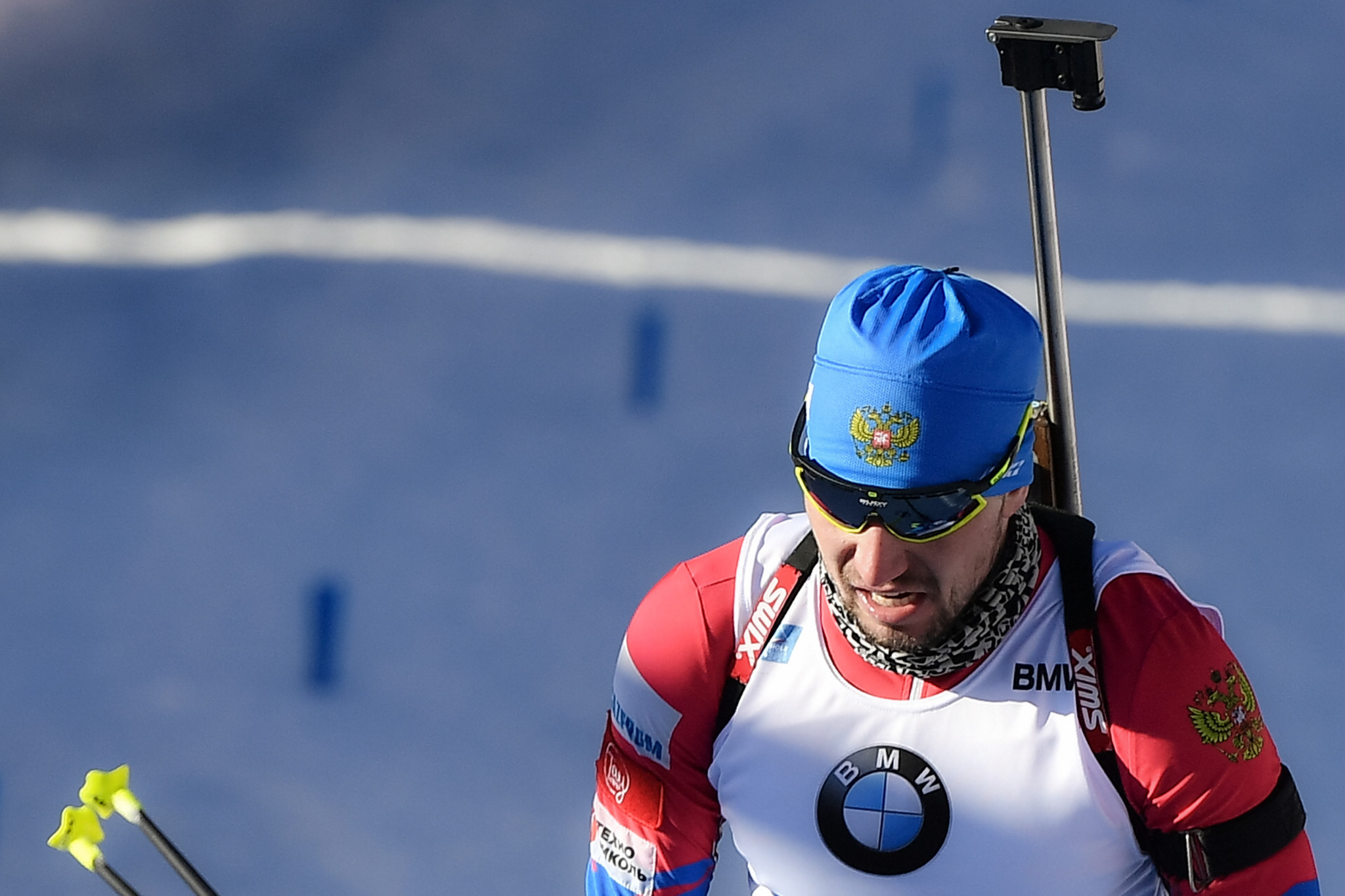 Alexander Loginov's hotel room was searched by Italian police during the Biathlon World Championships ©Getty Images