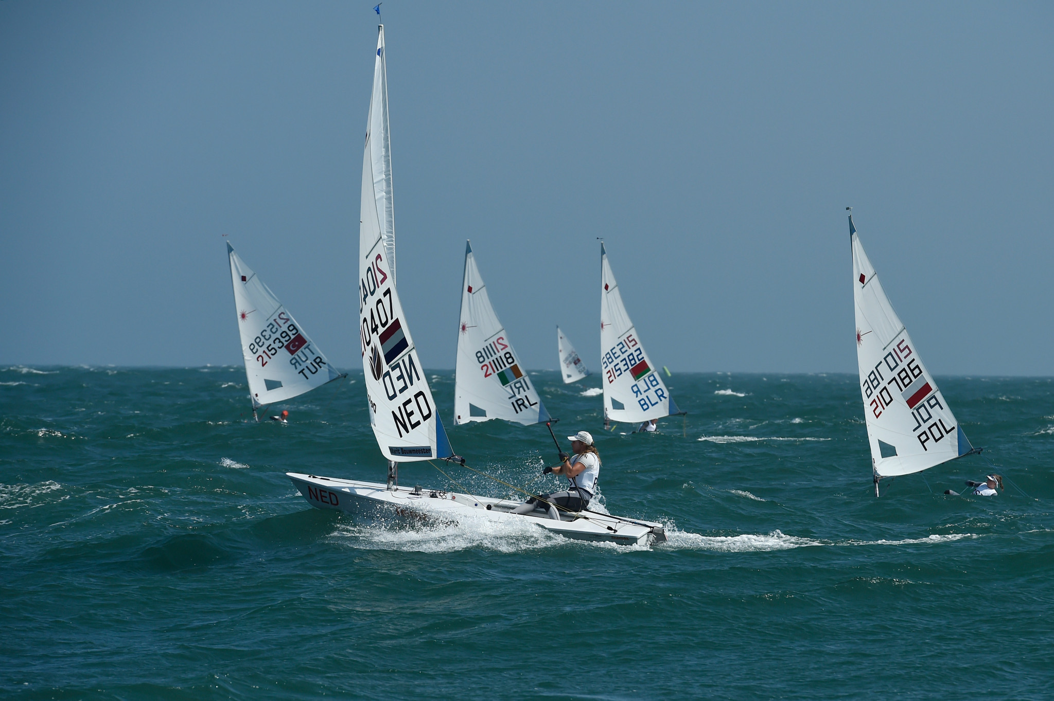 Olympic champion Bouwmeester claims lead at Laser Radial Women's World Championship