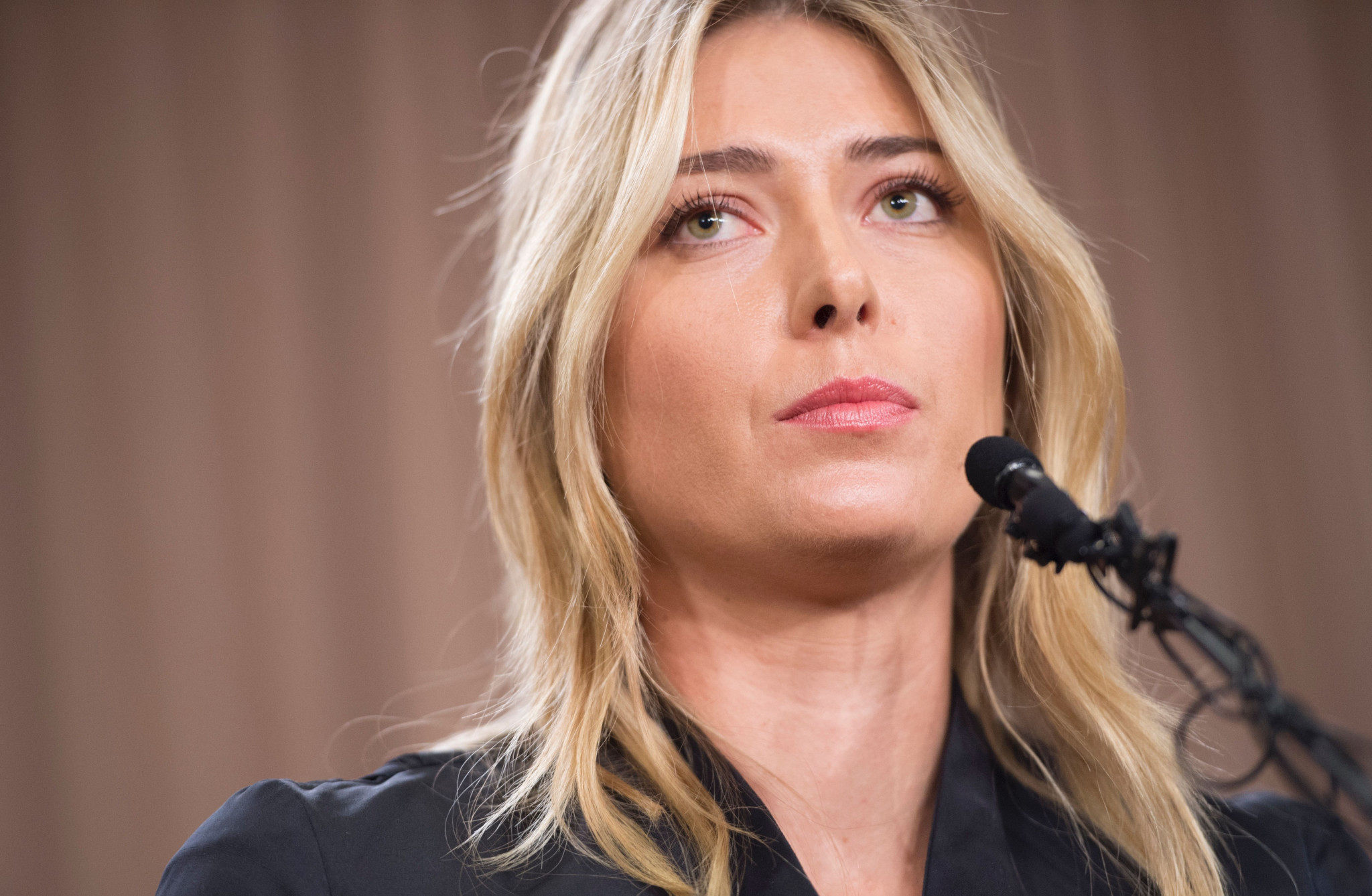 Maria Sharapova announced in March 2016 she had tested positive for meldonium at that year's Australian Open ©Getty Images