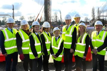 Organisers of the 2022 Commonwealth Games in Birmingham have today held an event to mark the start of major construction of the Sandwell Aquatics Centre ©DCMS/Twitter