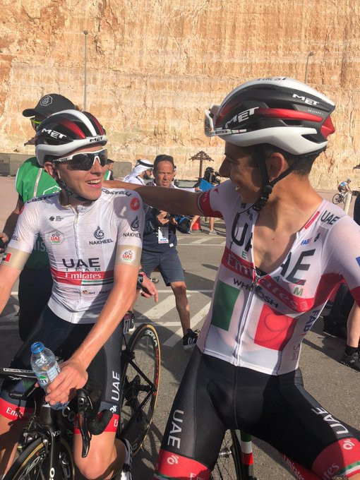 Pogačar edges Lutsenko to victory on stage five of UAE Tour as Yates maintains grip on overall lead
