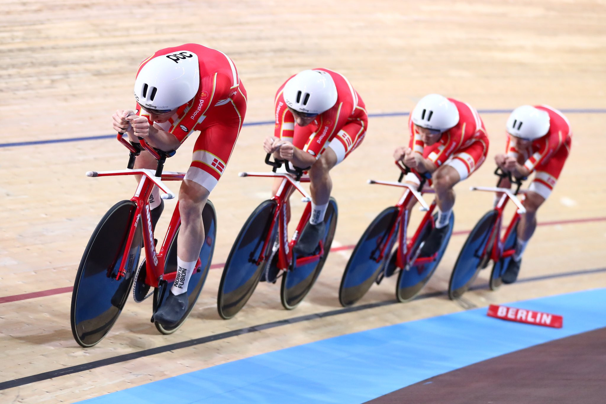 Denmark set third world record in two days as take gold in men's team pursuit