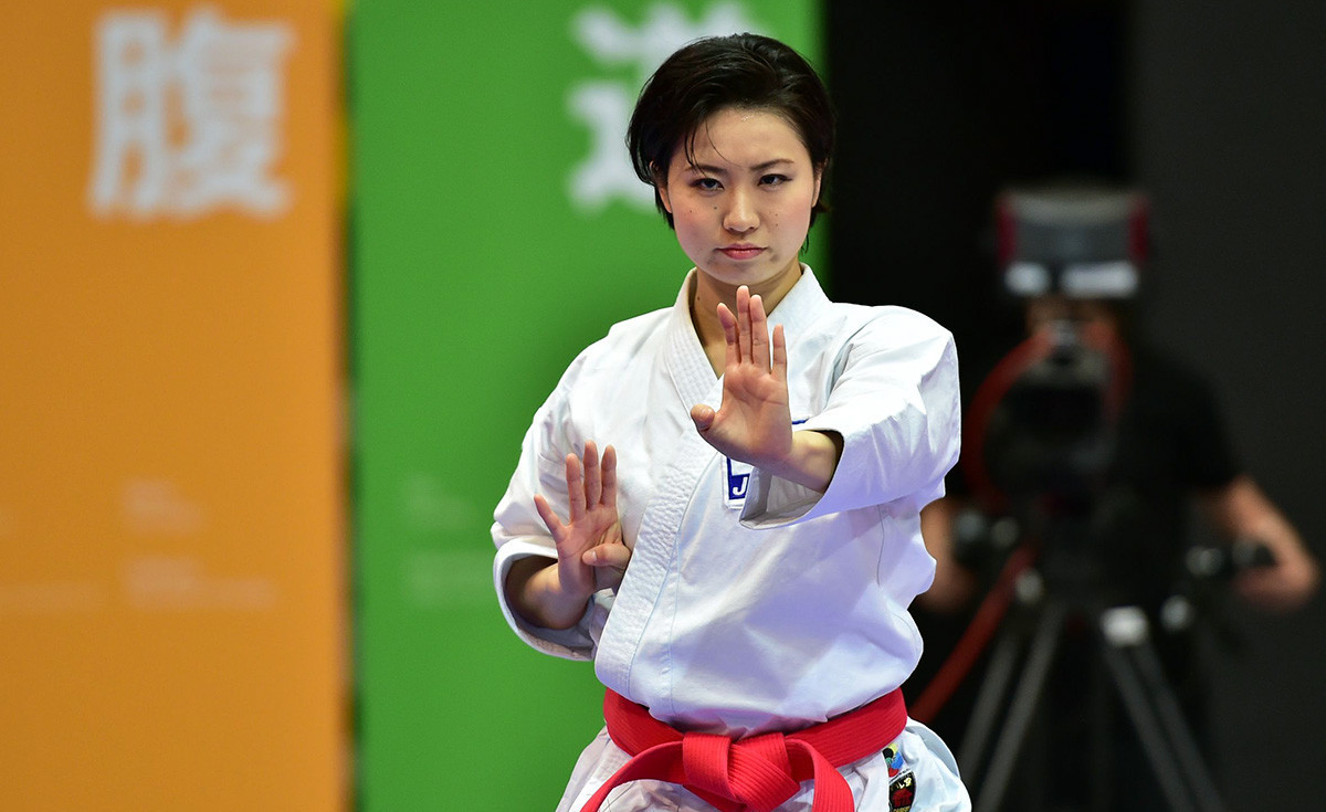 Emiri Iwamoto of Japan in action the last time the Karate 1-Premier League came to Salzburg, back in 2016 ©WKF