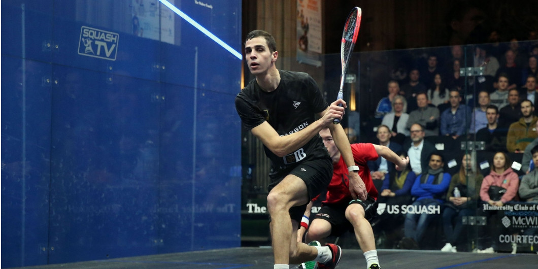 Men's top seed Ali Farag progressed to the third round of the Windy City Open ©PSA