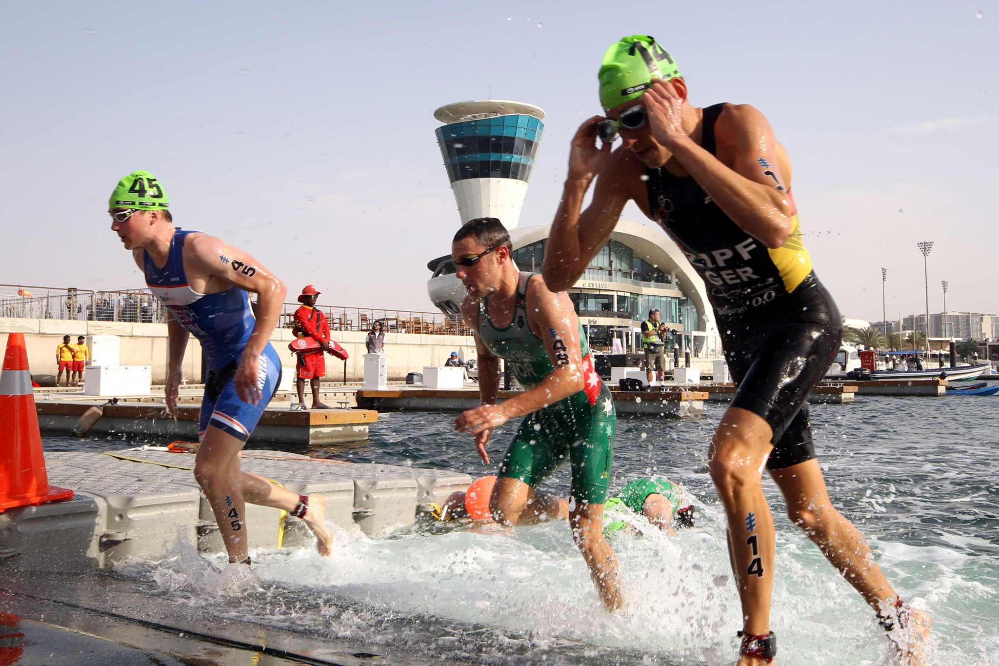 Organisers of the World Triathlon Series in Abu Dhabi claimed they will try to reschedule the event for later in March or April ©Getty Images