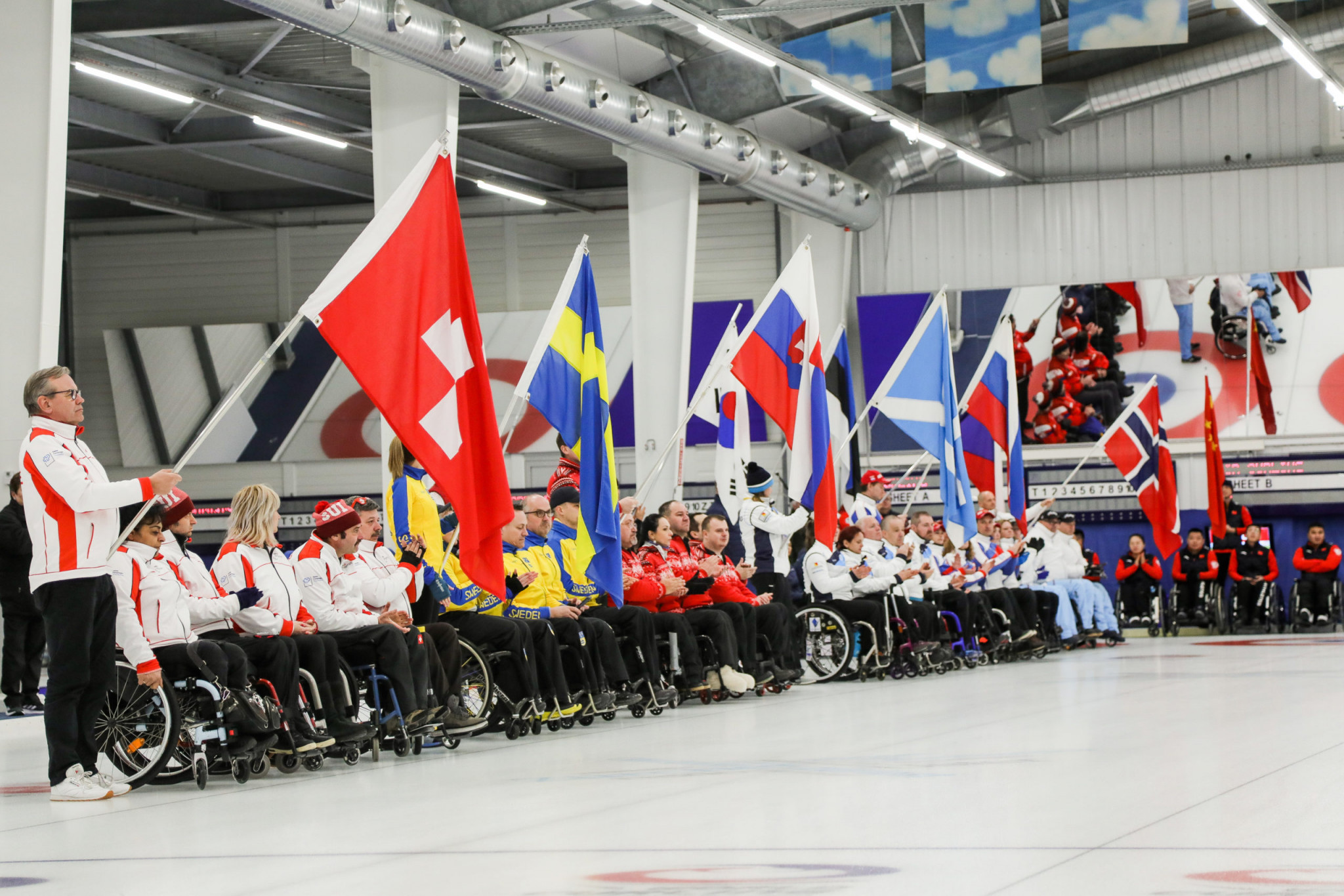 Latvia top after winning both opening matches at World Wheelchair Curling Championships