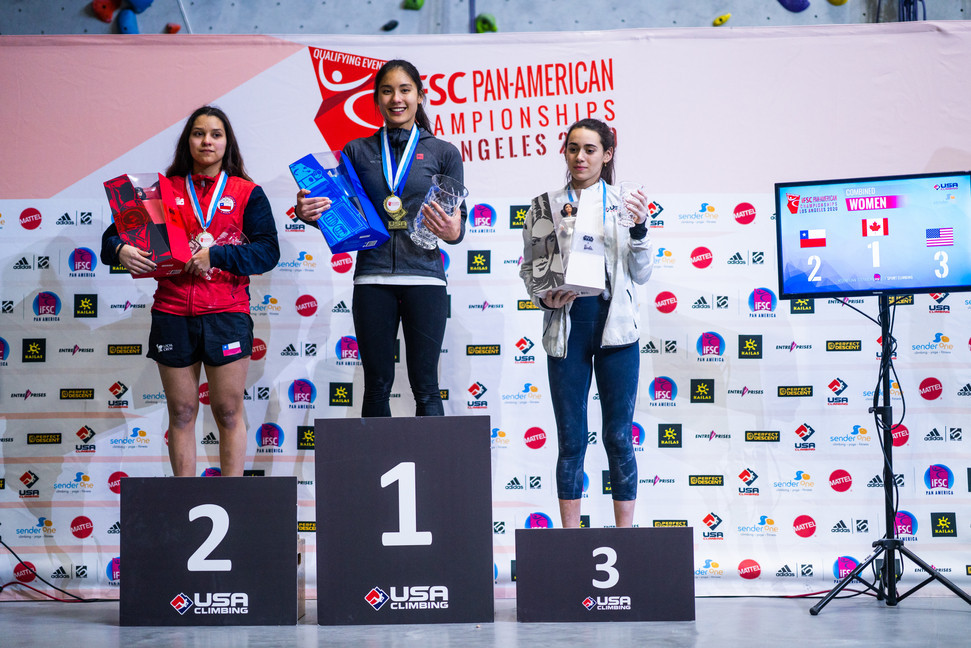 Yip takes third and final chance to earn Tokyo 2020 place by winning Pan American Sport Climbing title
