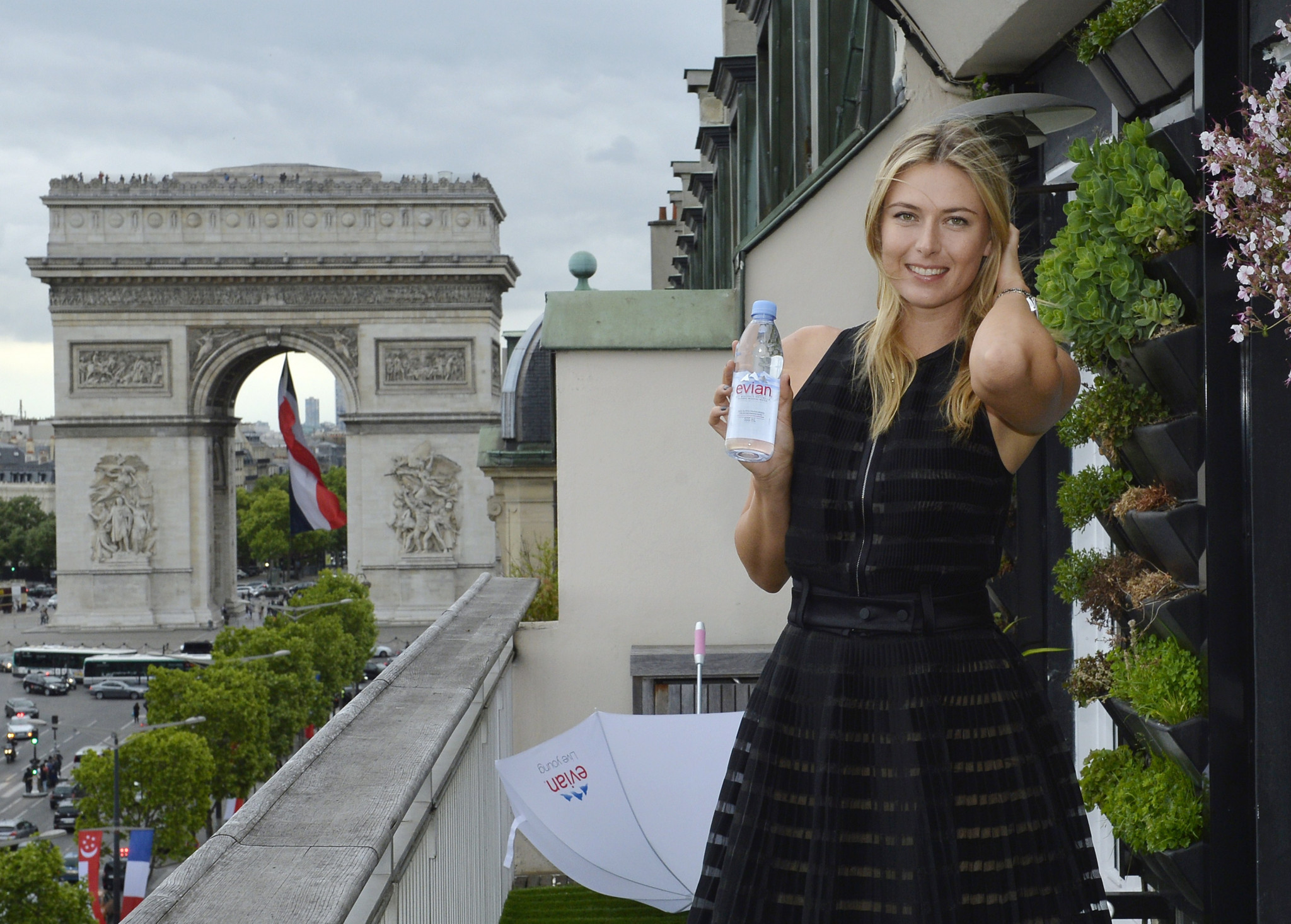 Maria Sharapova was well known for her numerous sponsorship deals with companies such as Evian and was named Forbes' highest-paid female athlete for 11 years in a row ©Getty Images