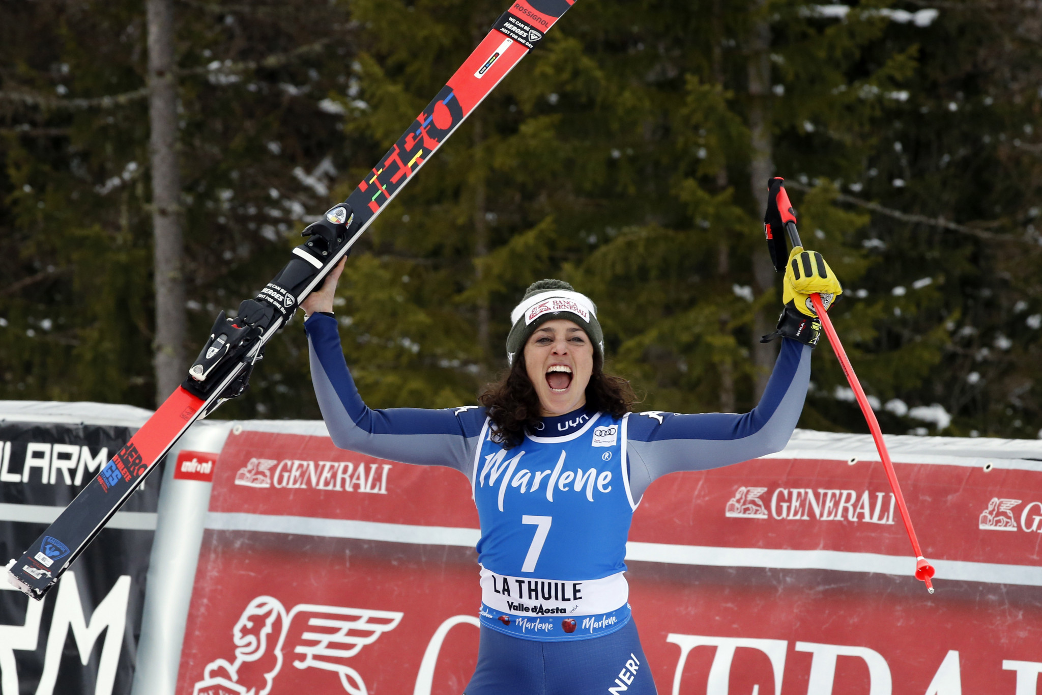 Brignone earns FIS Alpine combined World Cup crystal globe as action in La Thuile cancelled