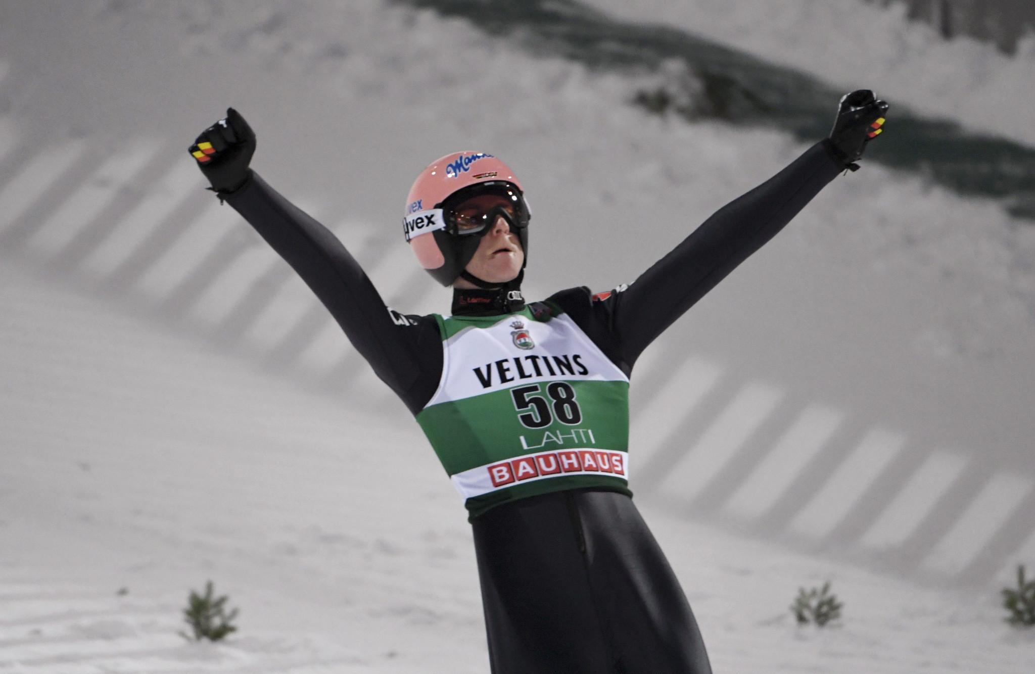 Geiger closes gap on Kraft at FIS Ski Jumping World Cup in Lahti