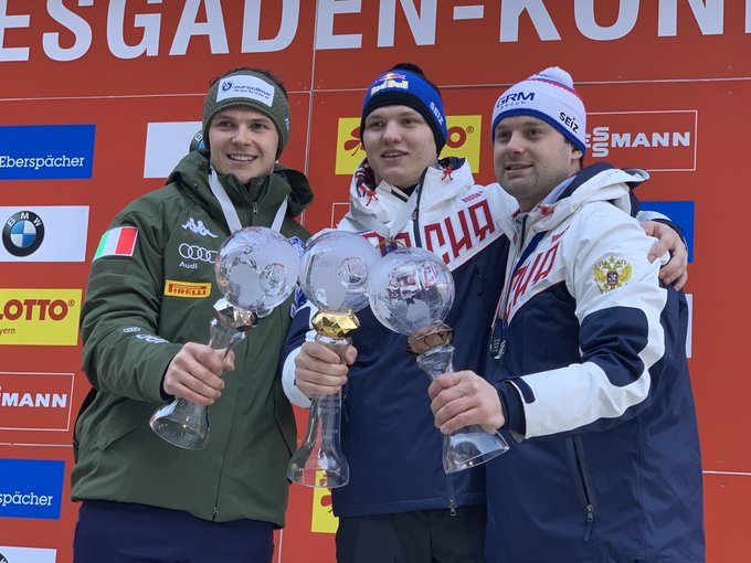 Repilov crowned overall men's Luge World Cup champion as Pavlichenko wins in Königssee