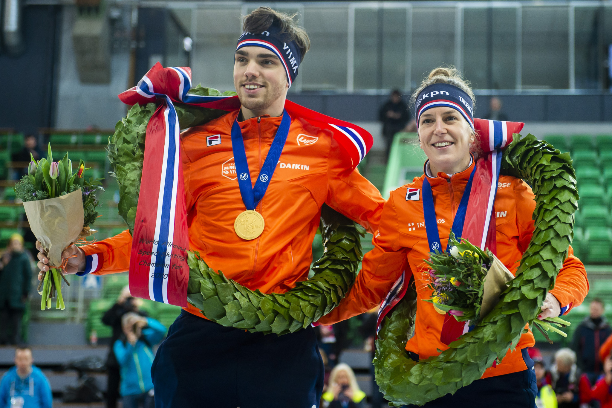 Roest and Wüst crowned World Allround Speed Skating champions again in Hamar