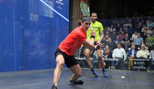 New Zealand's Paul Coll was among players to make the men's quarter-finals today ©PSA