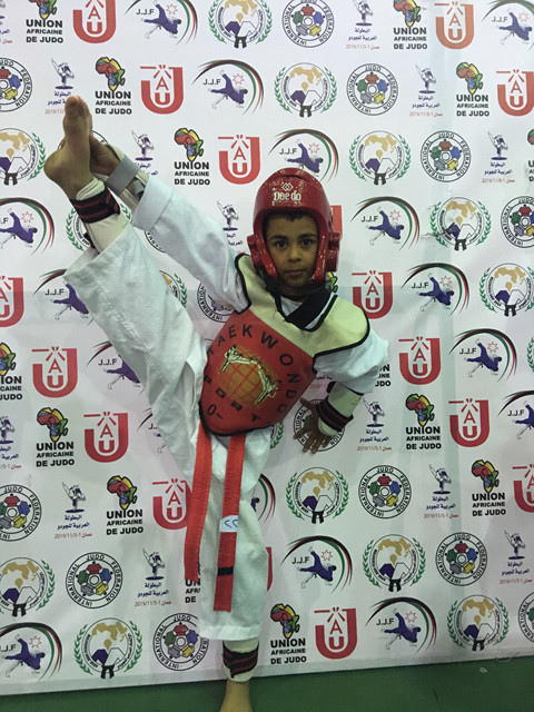 Reda has earned his black belt at eight-years-old ©World Taekwondo