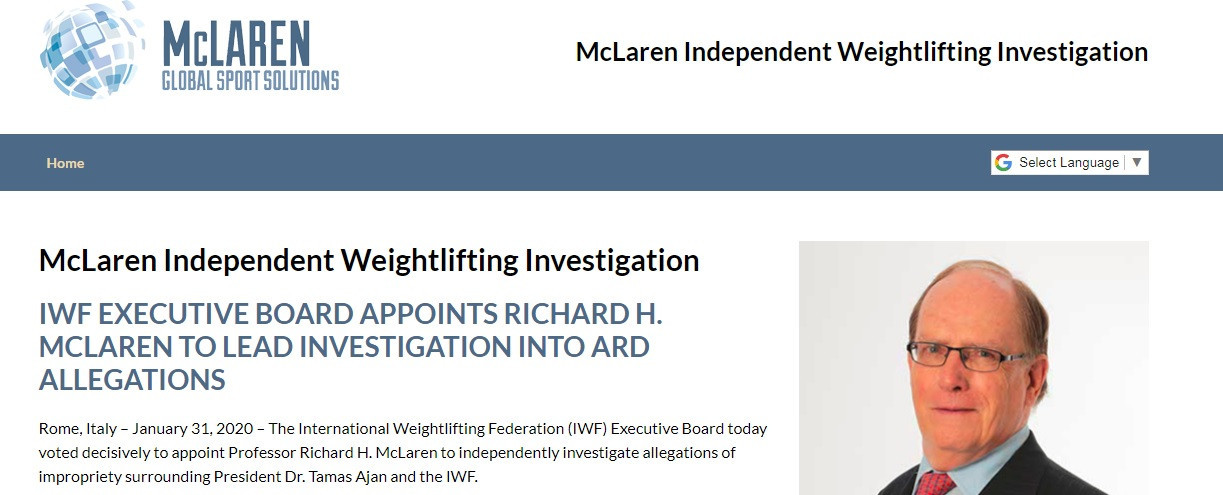 Whistleblower hotline set up to help McLaren investigation into allegations of corruption in weightlifting