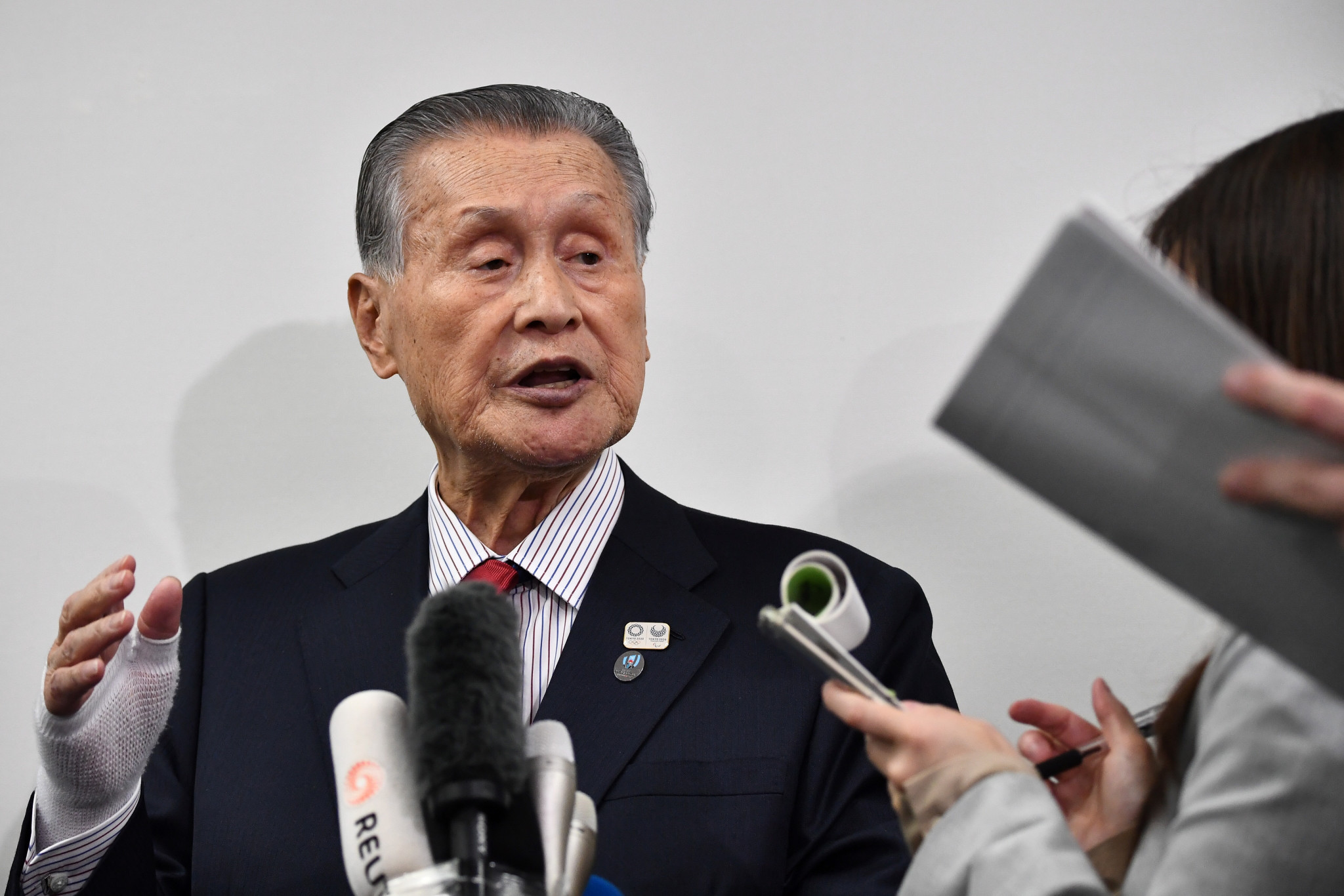 Tokyo 2020 President Yoshirō Mori added to the defiance surrounding the impact of the coronavirus on the Games ©Getty Images