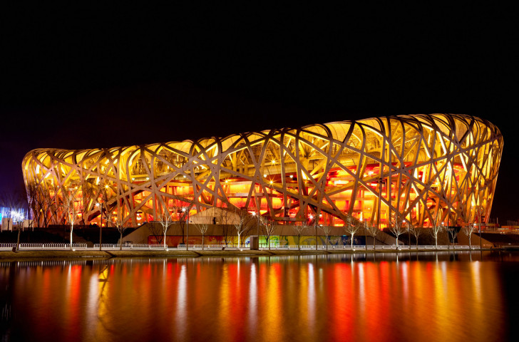 The Beijing National Stadium, also known as the bird's nest, in Beijing, China © Lintao Zhang/Getty Images