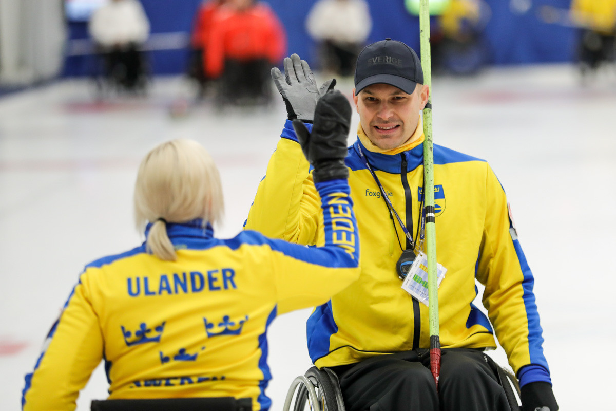 Sweden also ensured their qualification to the knockout stages of the World Wheelchair Curling Championship today ©Getty Images