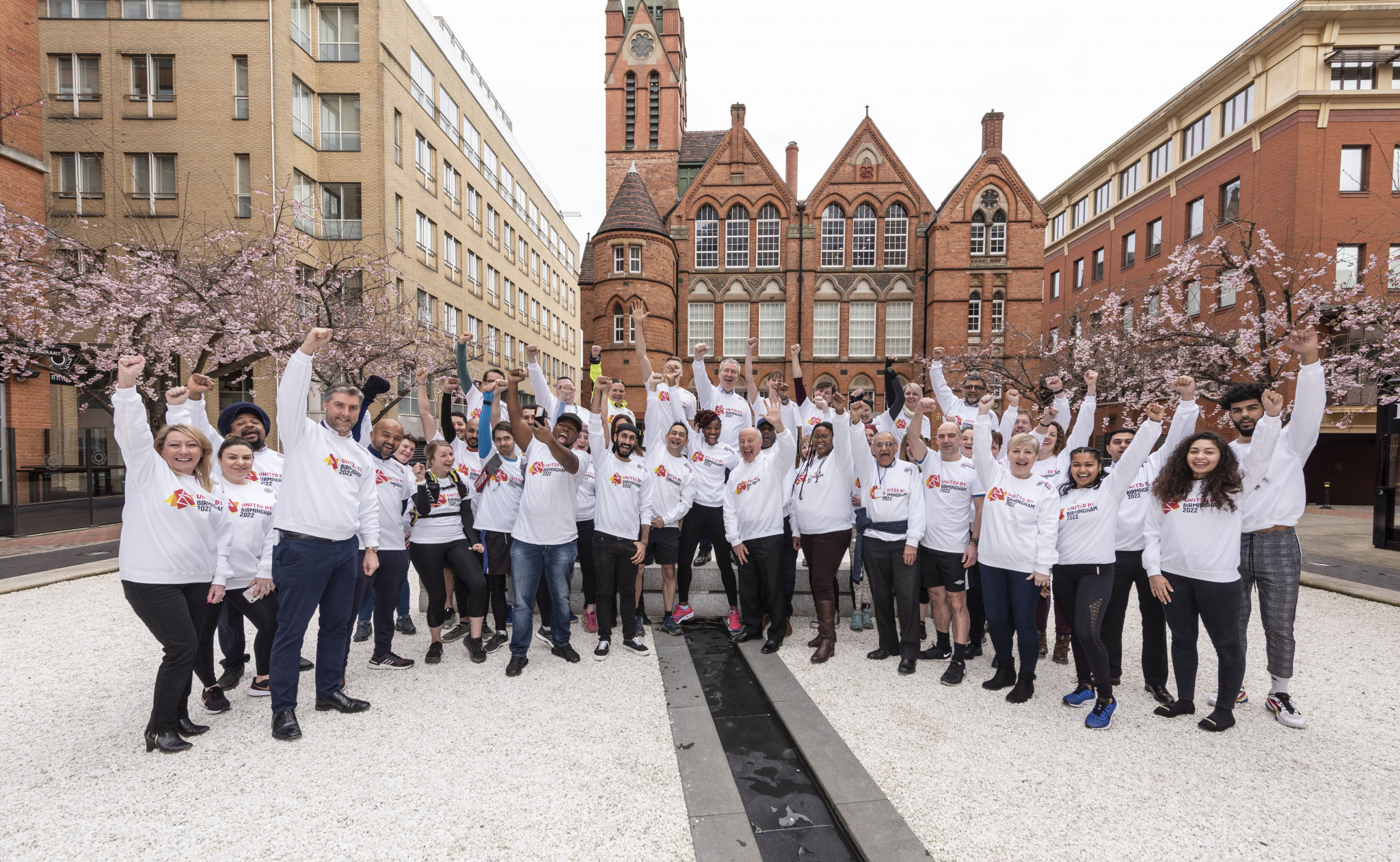 Representatives of the projects recognised by the United by Birmingham 2022 programme ©Birmingham2022