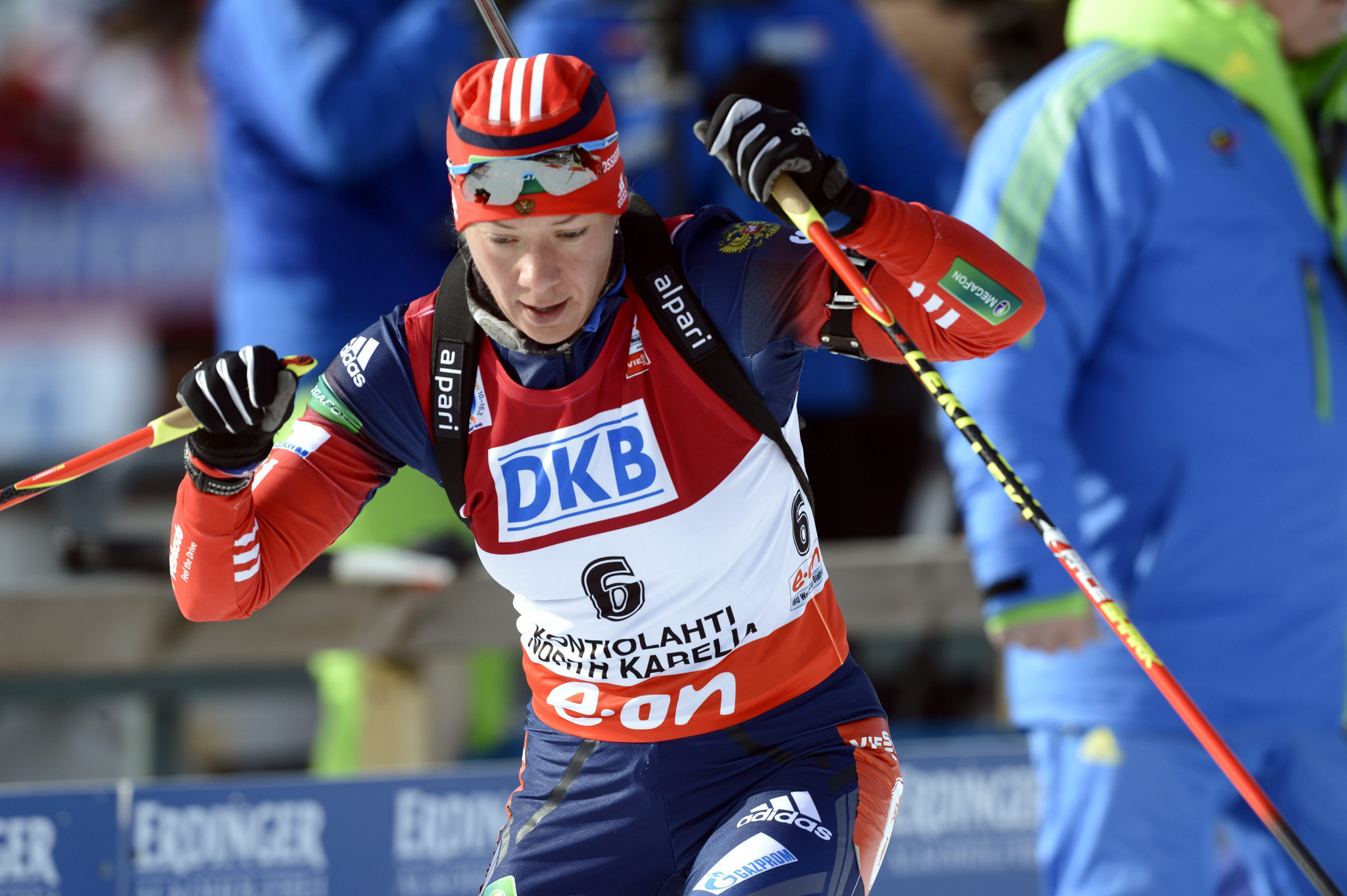 Olga Zaitseva is among the athletes hoping their Olympic biathlon relay gold medal is reinstated ©Getty Images