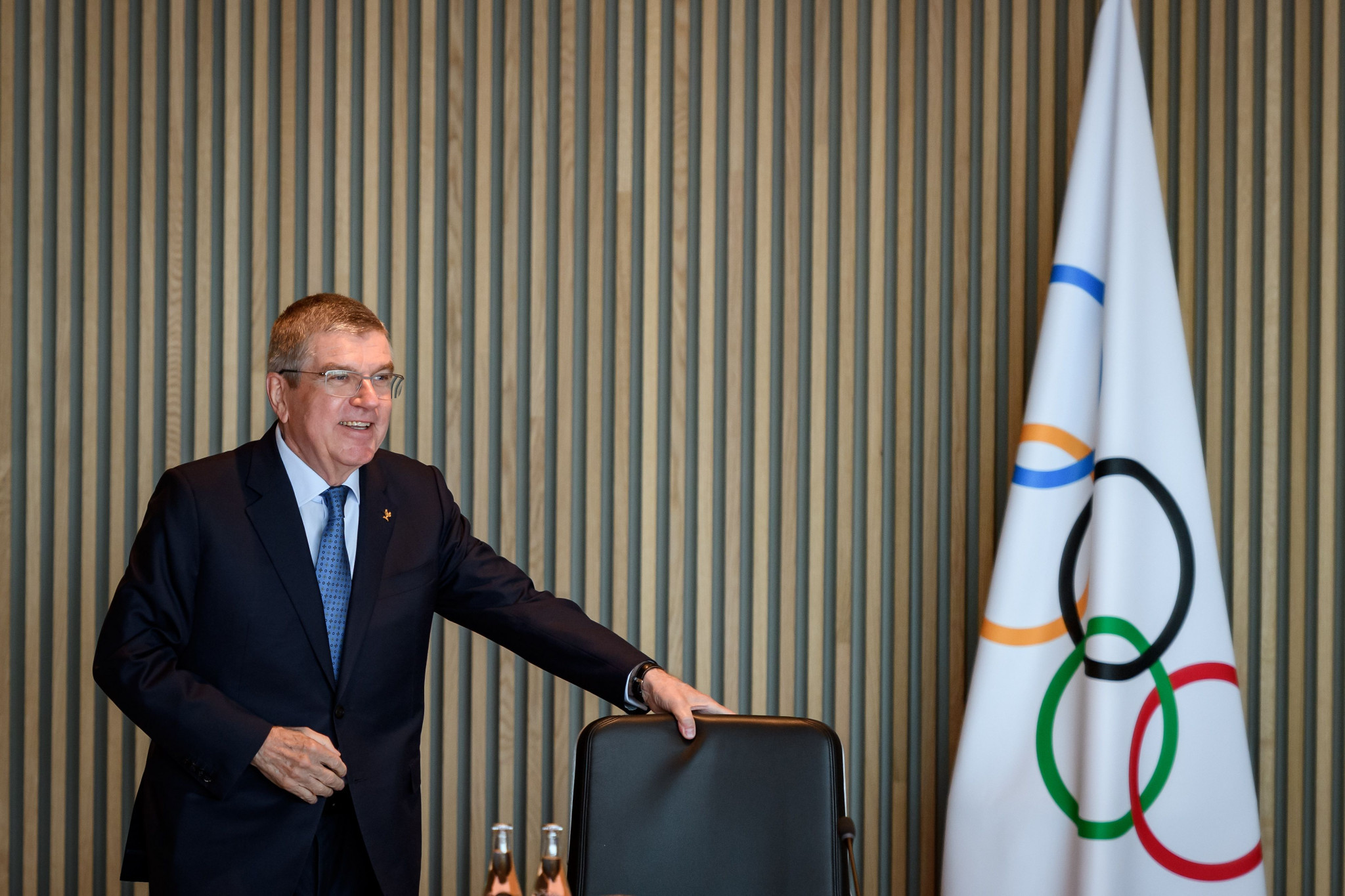 IOC President Thomas Bach fielded numerous questions from the media on the coronavirus outbreak ©Getty Images