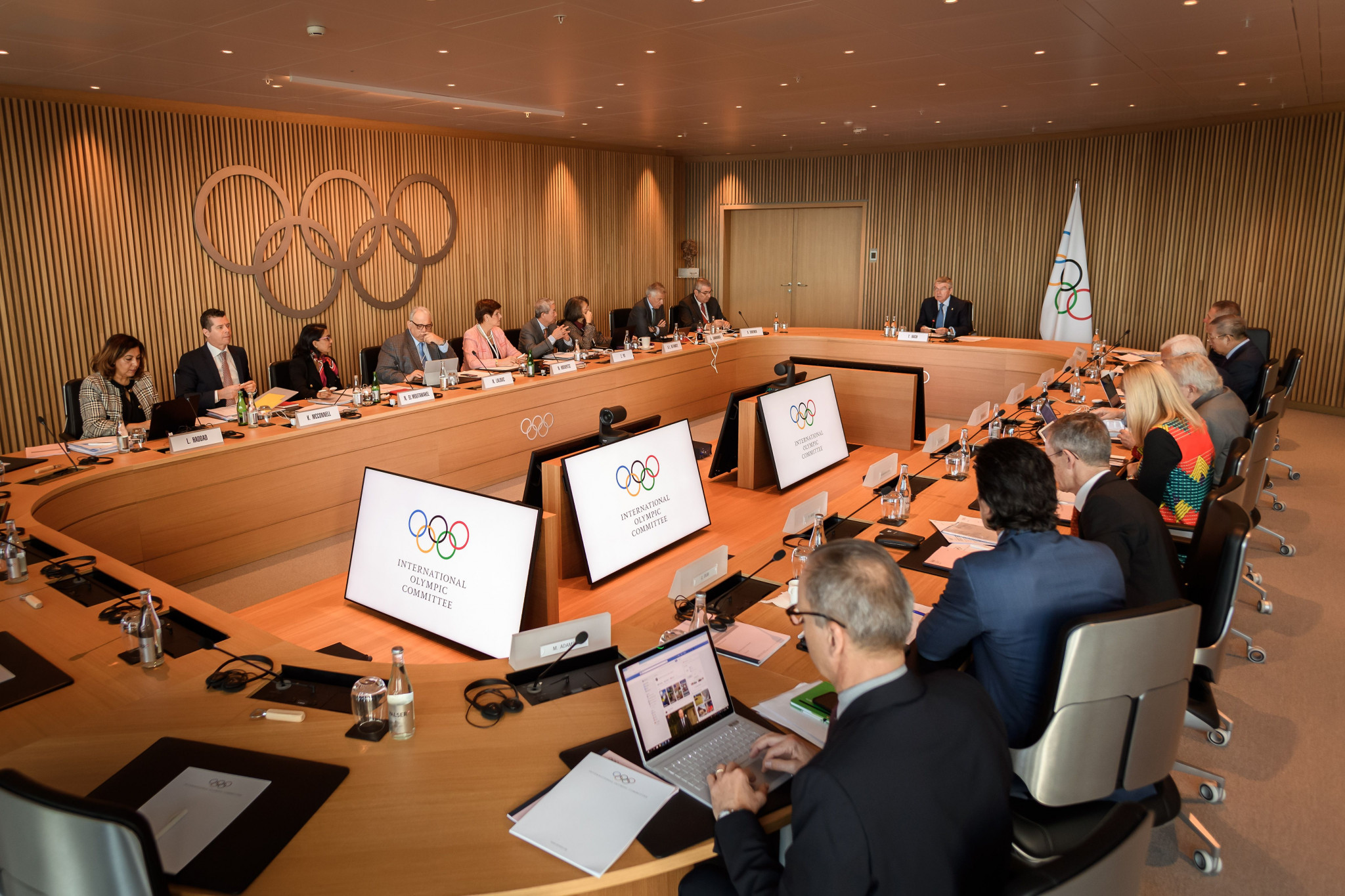 Thomas Bach claimed cancelling or postponing Tokyo 2020 was not considered during the latest Executive Board meeting ©Getty Images