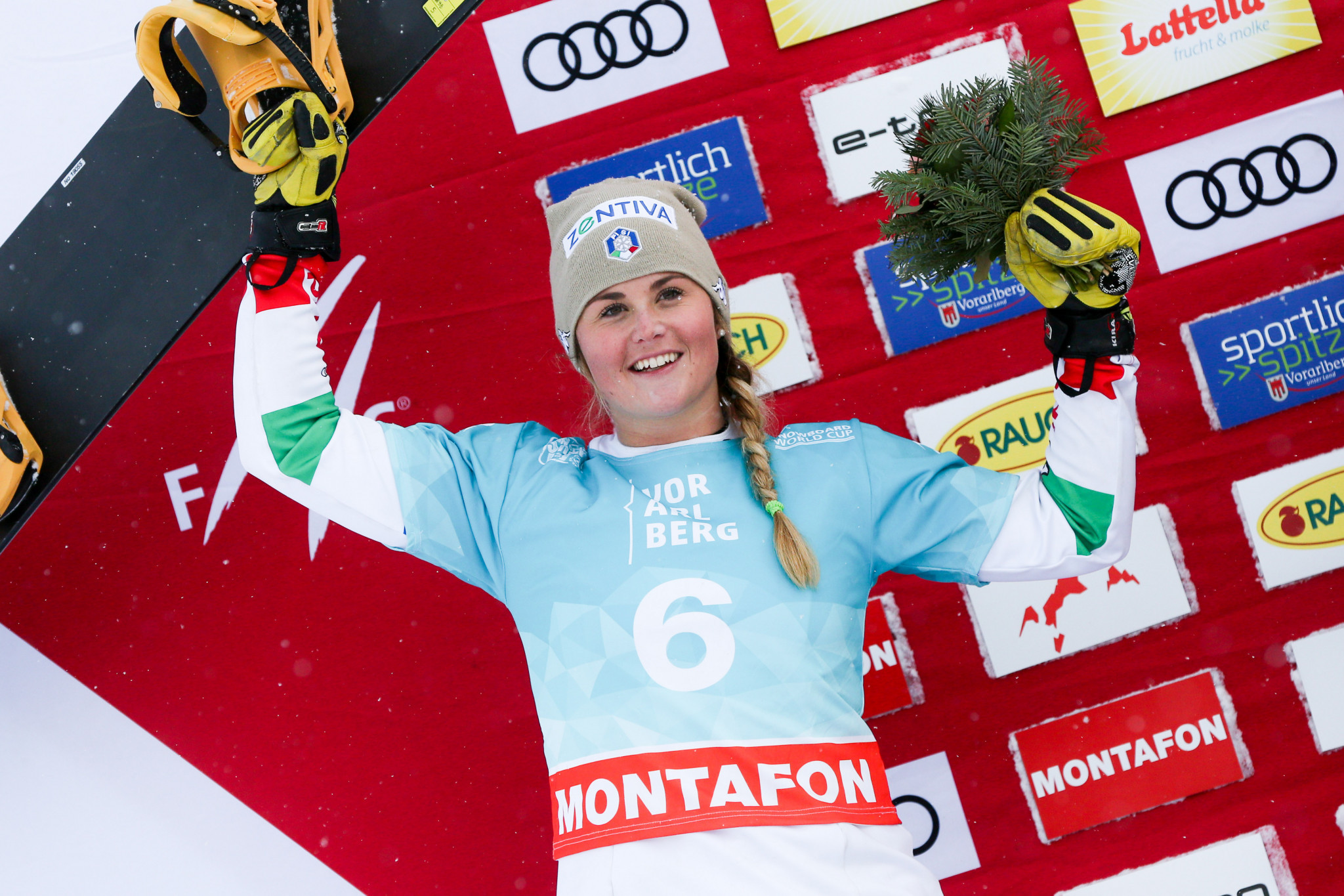 Italy's Michela Moioli leads the women's FIS Snowboard Cross World Cup standings ©Getty Images