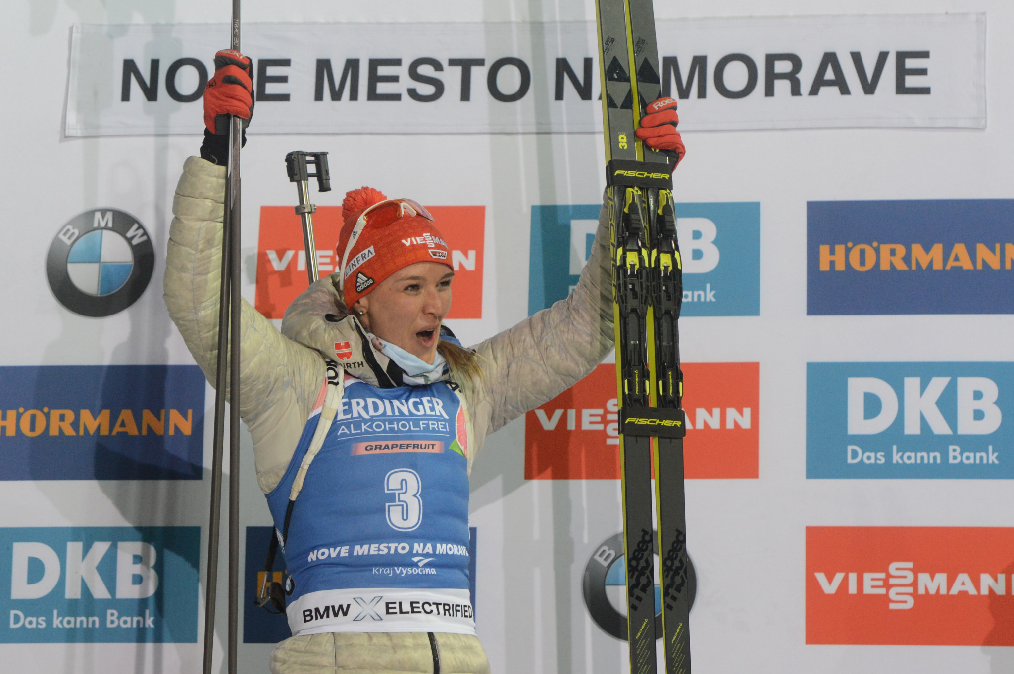 Herrmann wins women's 7.5km sprint at IBU World Cup in Czech Republic