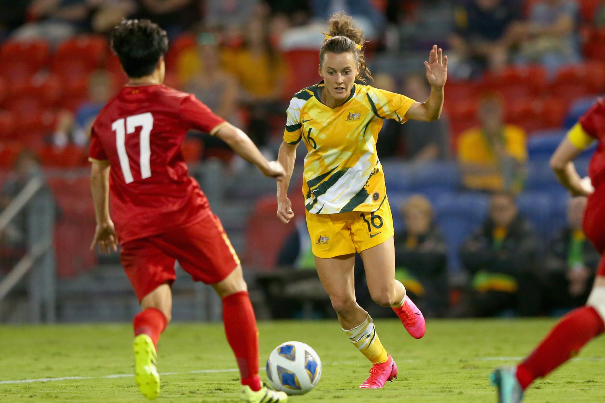 Australia thrash Vietnam in first leg of Olympic football playoff