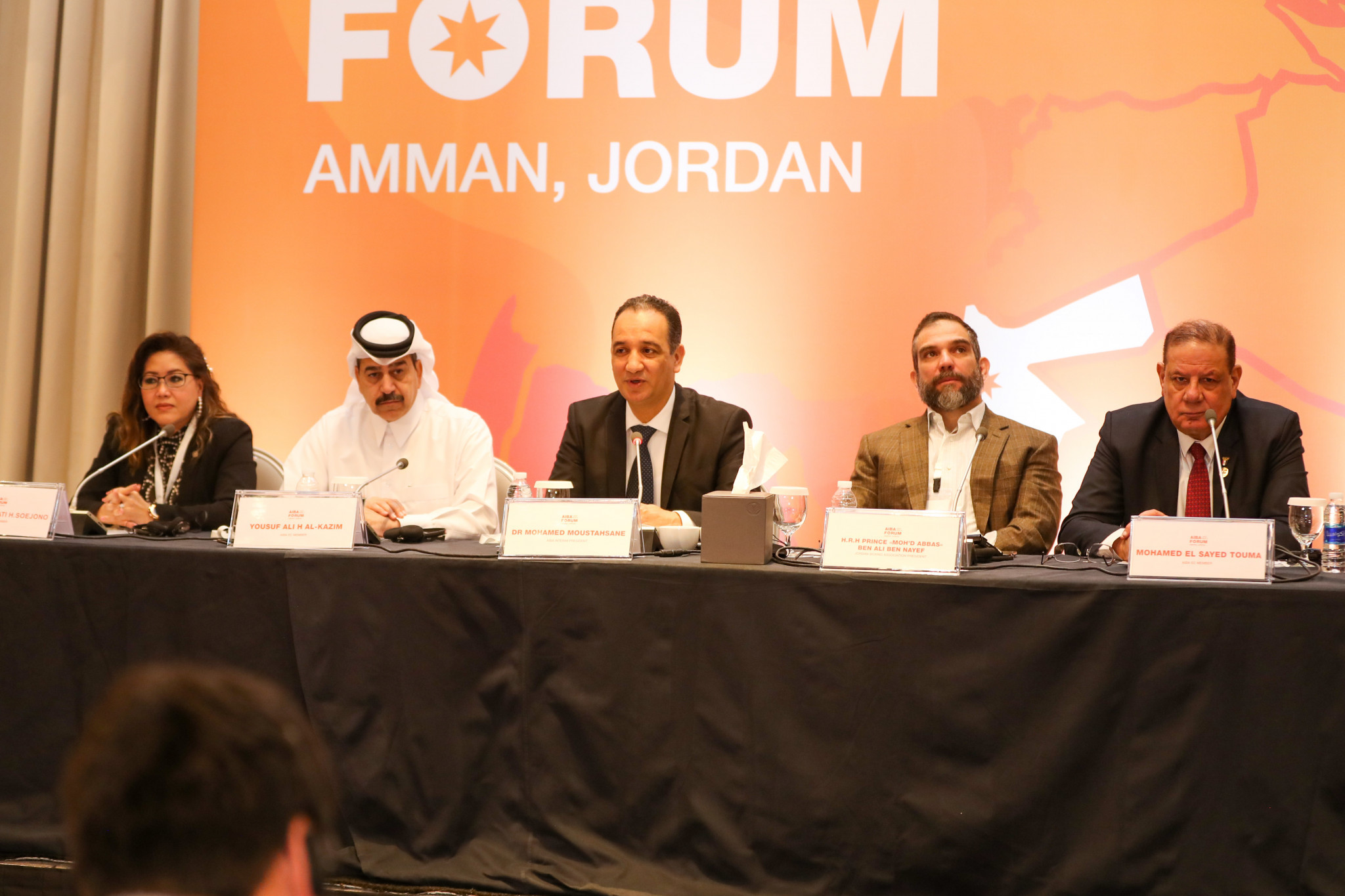 The top table at today's meeting at the Amman Rotana ©AIBA