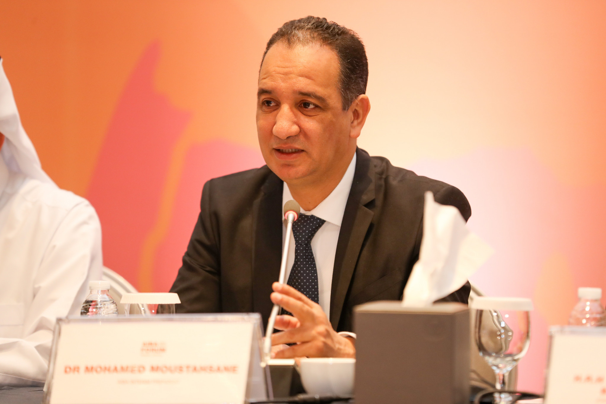 Interim President Mohamed Moustahsane was in charge of proceedings ©AIBA