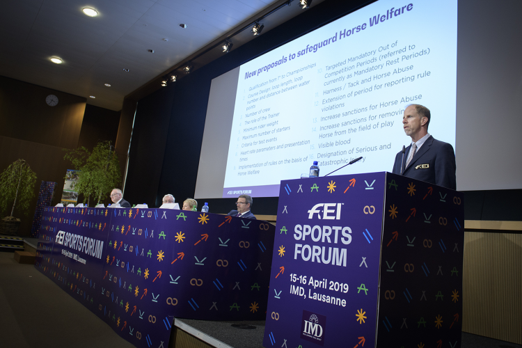The FEI Sports Forum involves a gathering of multiple persons travelling from all over the globe ©FEI