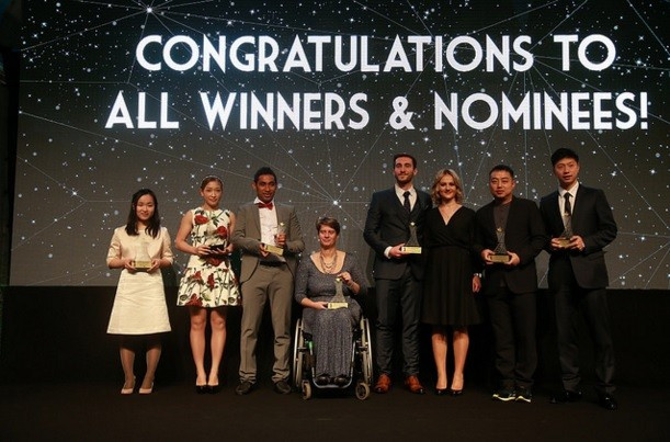 The winners all received their prizes at the ITTF Star Awards ceremony in Lisbon