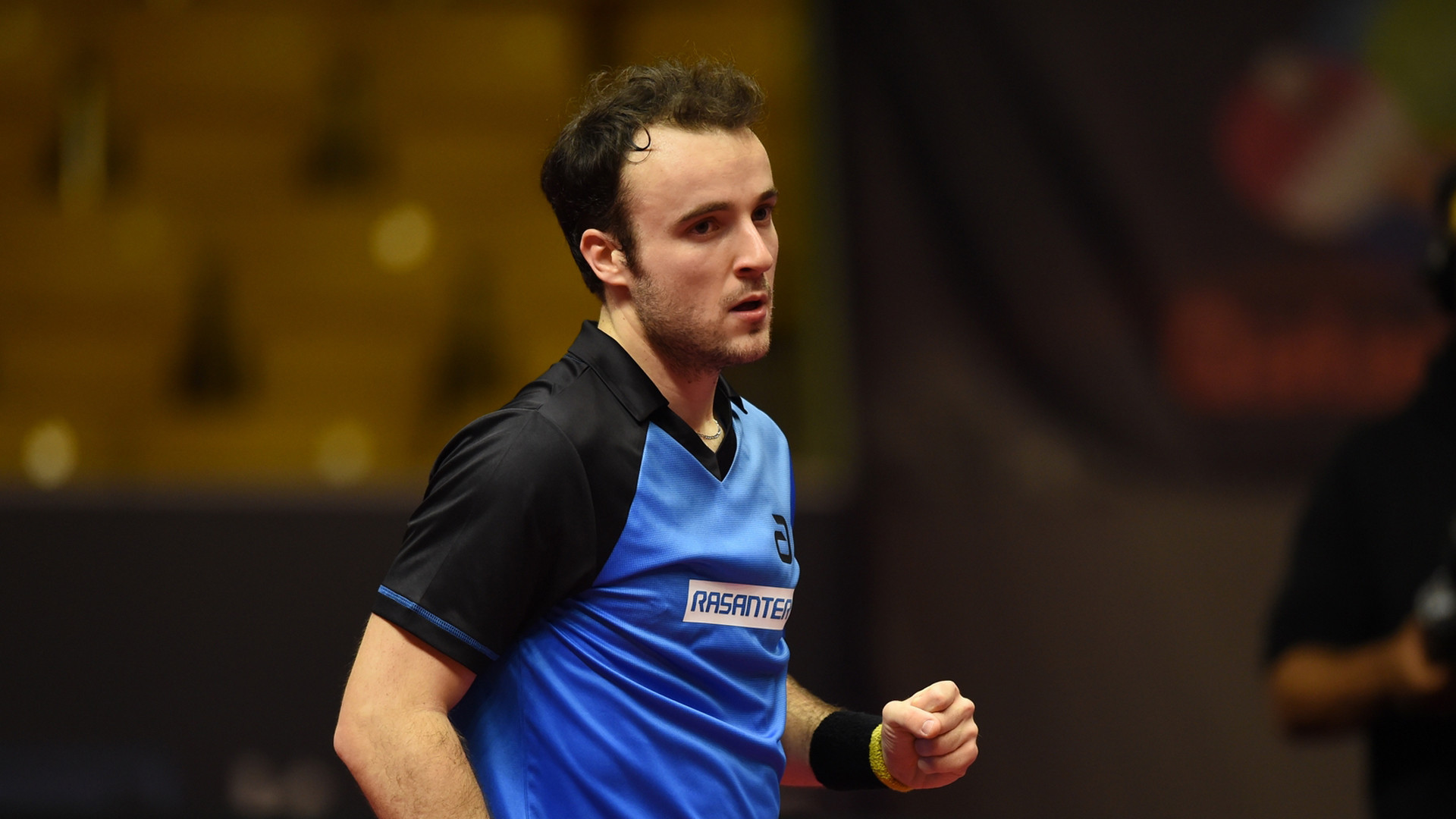 France's Simon Gauzy pushed China's world number one Xu Xin to a seventh game before losing his men's singles quarter-final today at the Qatar Open in Doha ©ITTF