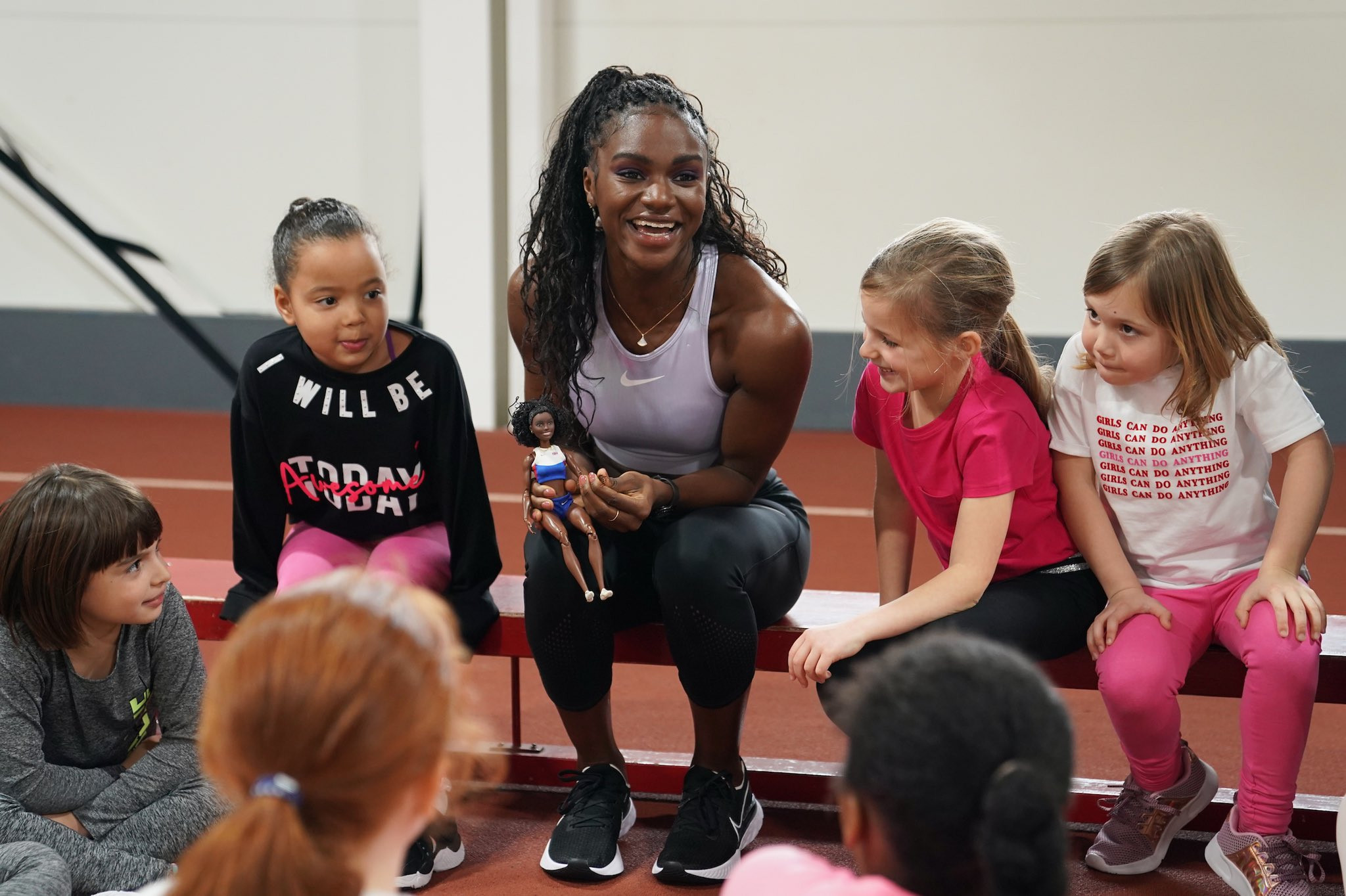 Toy company Mattel made a Barbie doll inspired by sprinter Dina-Asher Smith ©Getty Images