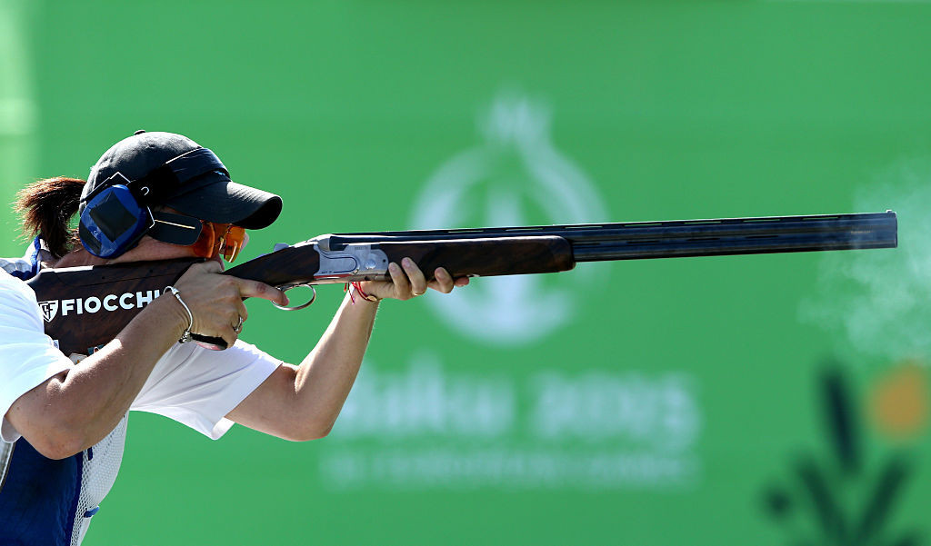 San Marino's Alessandra Perilli topped intermediate qualifying for tomorrow's women's trap final at the ISSF Shotgun World Cup in Nicosia ©Getty Images