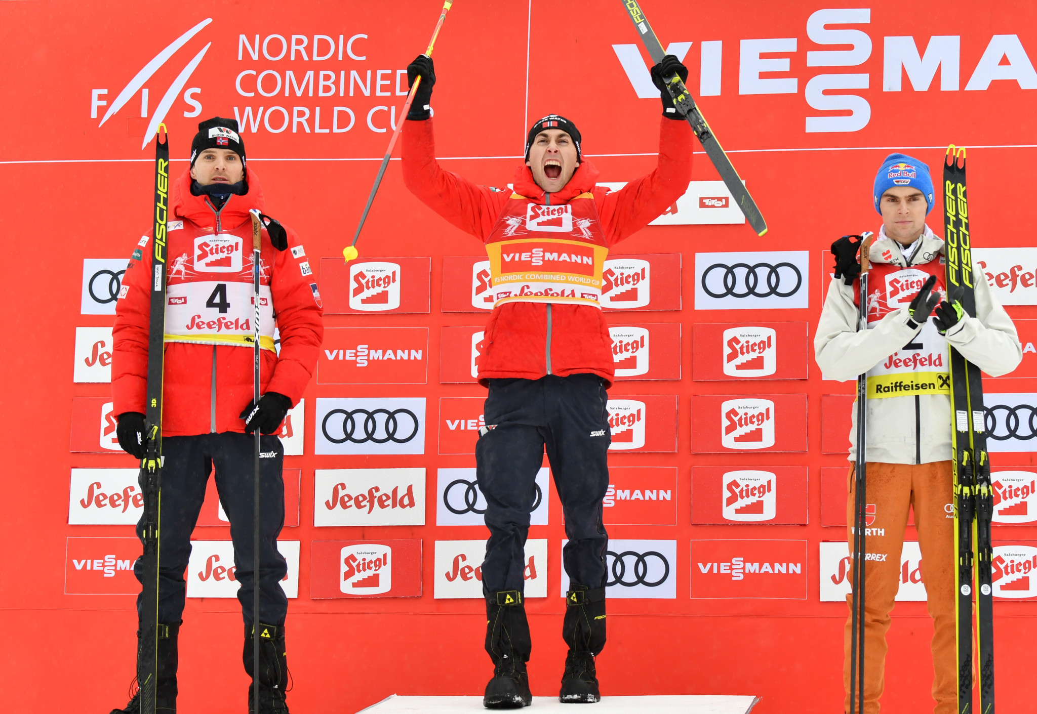 Jarl Magnus Riiber achieved 14 victories this World Cup season ©Getty Images