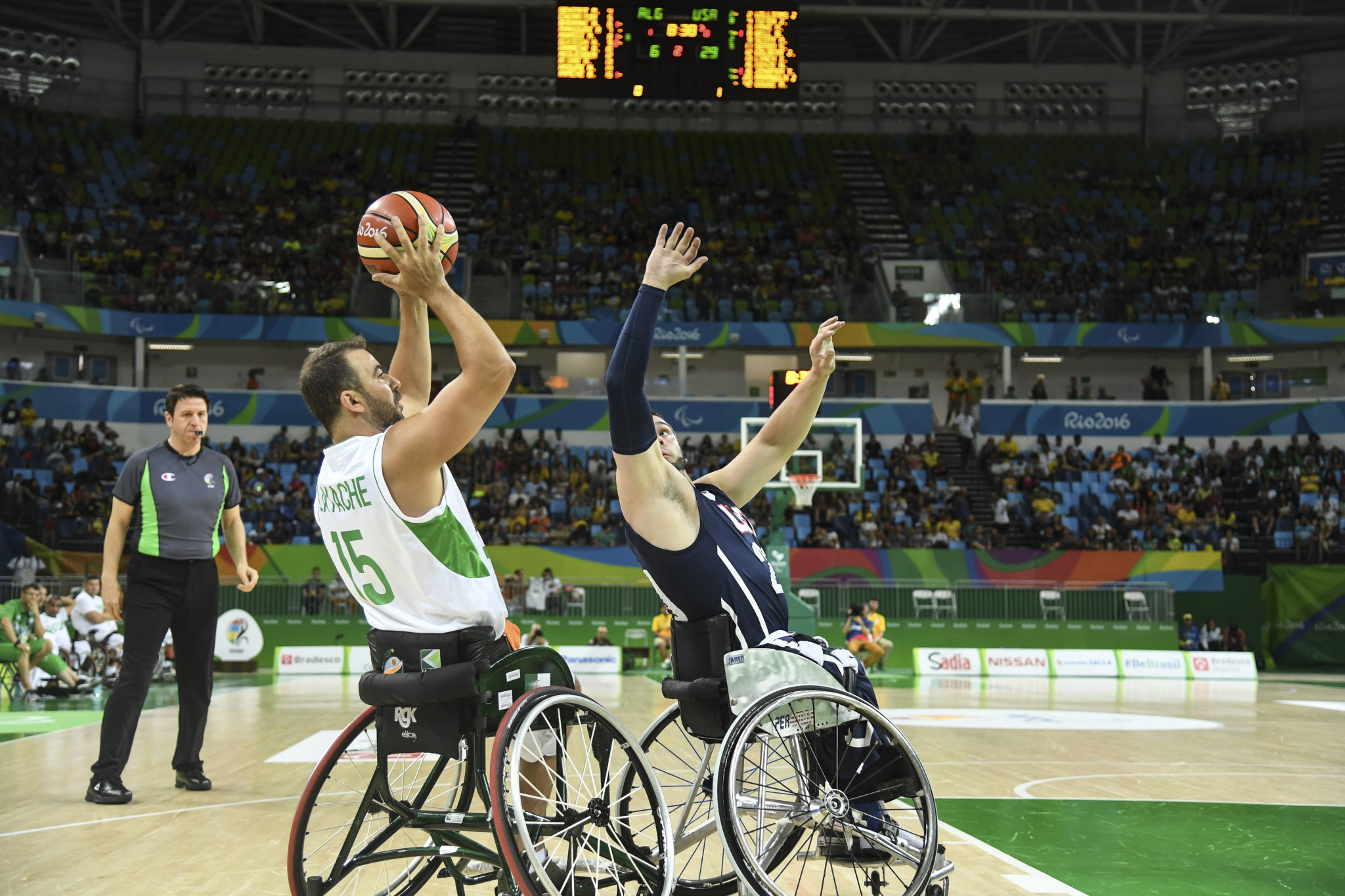 Algeria competed at the Rio 2016 Paralympic Games, finishing last ©Getty Images