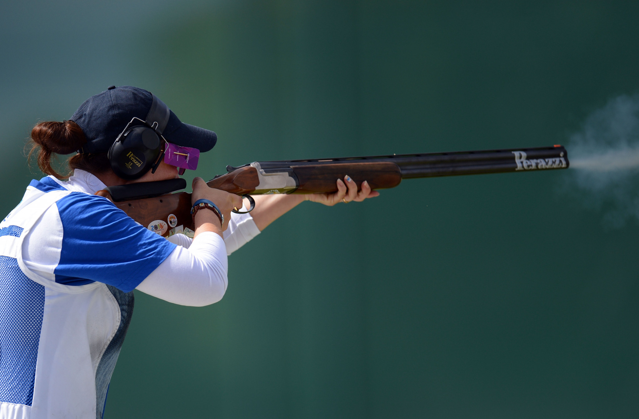 Alessandra Perilli was the silver medallist in the women's trap event ©Getty Images