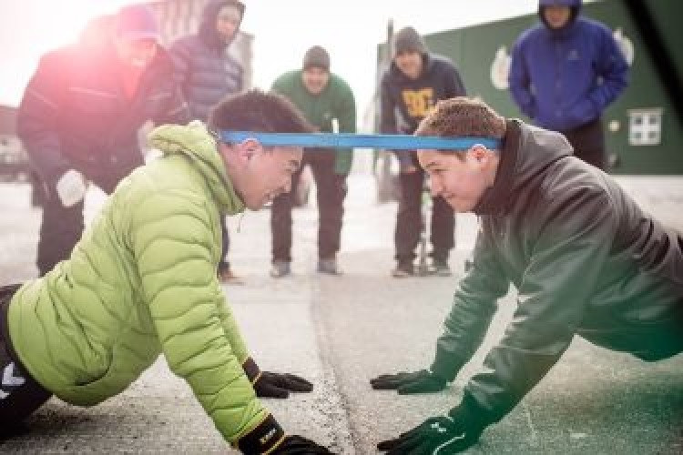 Action from the head pull event at the 2016 Arctic Winter Games ©Arctic Winter Games International Committee