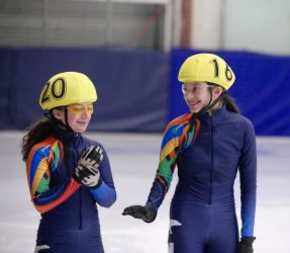 Speed skating competitors at the 2018 Arctic Winter Games ©Arctic Winter Games International Committee