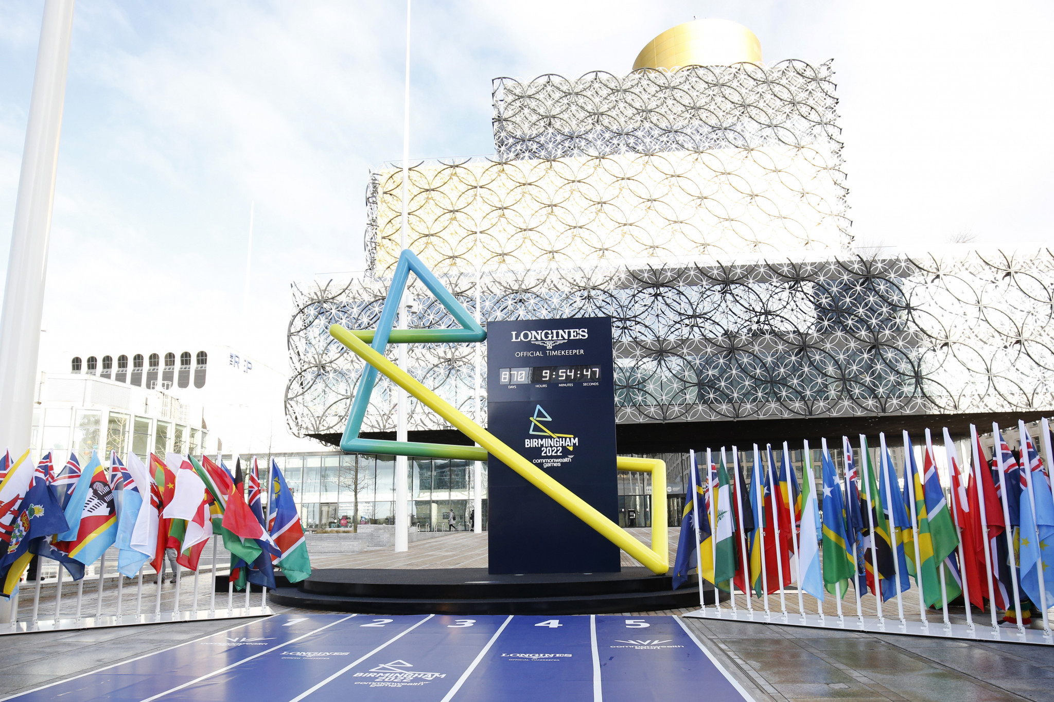 Birmingham 2022 launch countdown clock as part of new CGF partnership with Longines