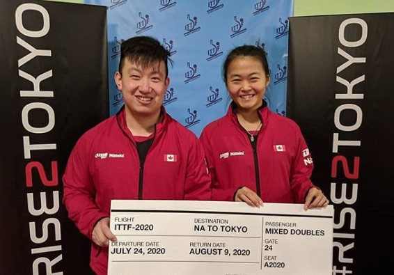 Zhang and Wang win ITTF North America mixed doubles Olympic qualifier