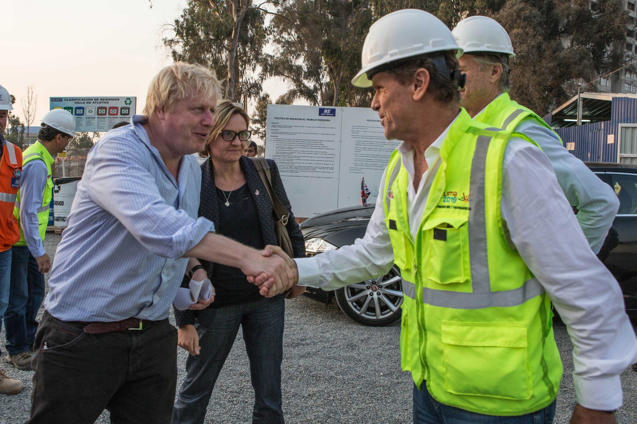 British politicians such as Prime Minister Boris Johnson, then Foreign Secretary, visited Peru in the build up to the 2019 Pan American Games  in Lima where the UK helped with infrastructure projects ©Getty Images