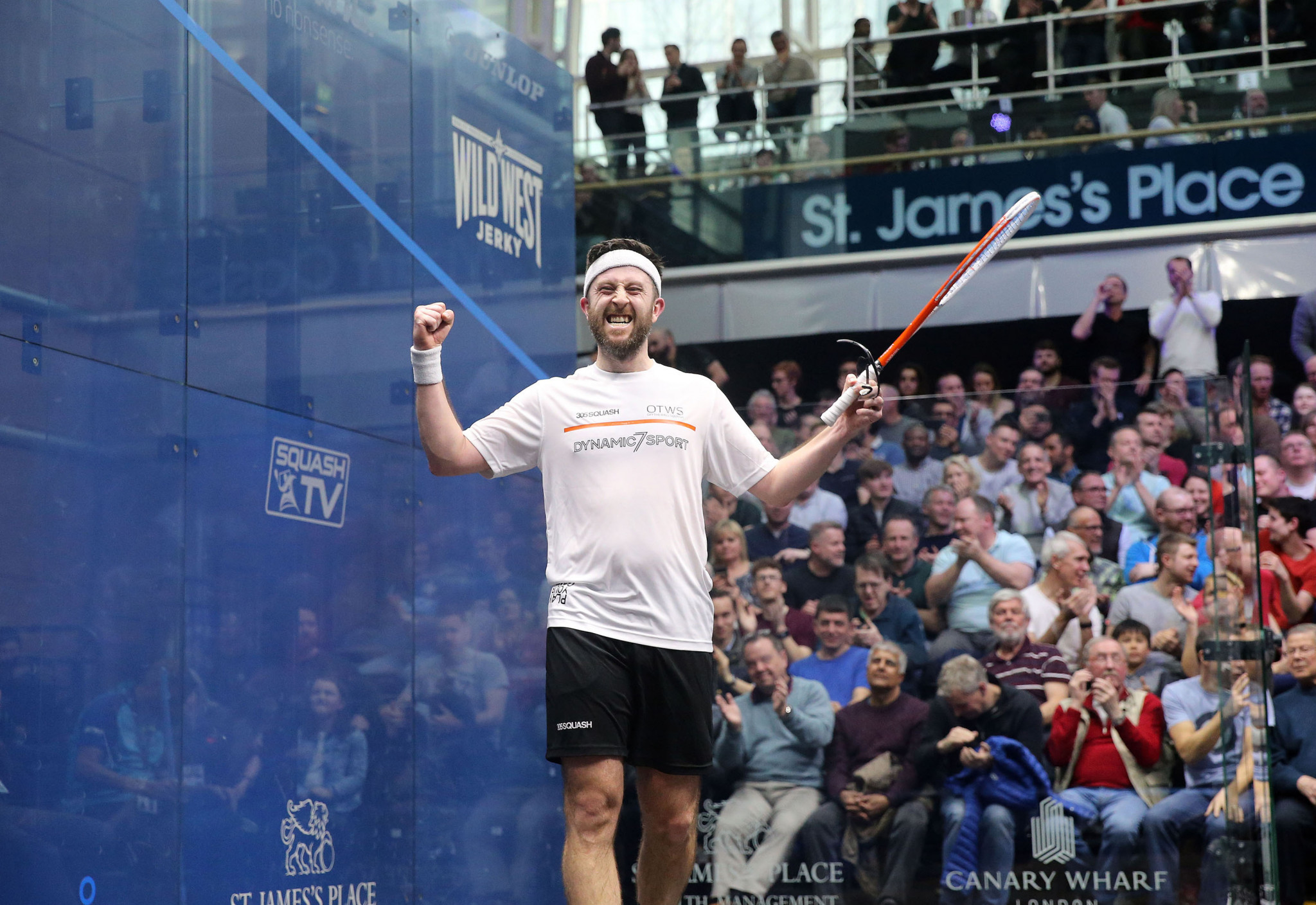Daryl Selby provided the biggest shock at the St James's Place Canary Wharf Classic when he beat Joel Makin ©PSA